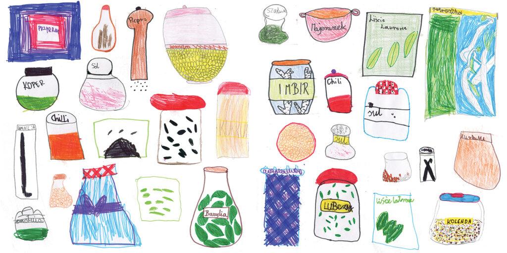 Przyprawy – szkice dzieci